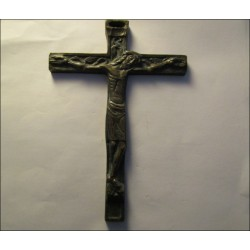 Crucifix en bronze ancien